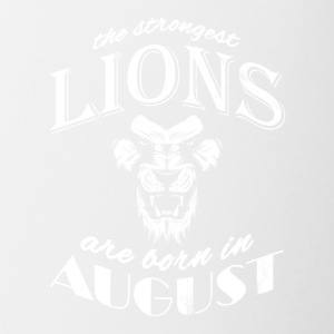 The strongest lions are born in August !!! - Contrasting Mug