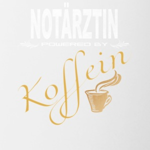 Notärztin powered by Koffein - Tasse zweifarbig