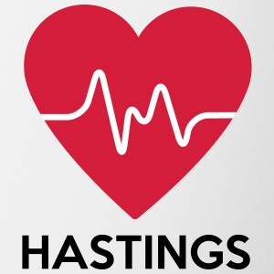 coeur Hastings - Tasse bicolore