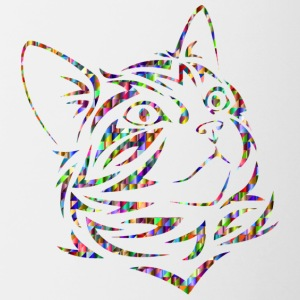 Colorful cat - Contrasting Mug