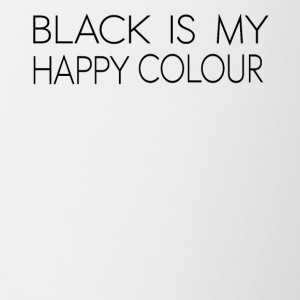 black_is_my_happy_color - Taza en dos colores