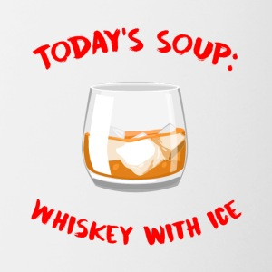 Whiskey - Today´s Soup: Whiskey with Ice - Tasse zweifarbig