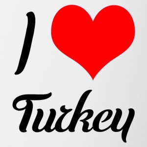 I love Turkey - Tasse zweifarbig