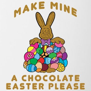 Easter Make Mine A Chocolate Easter Please - Contrasting Mug