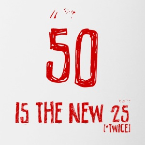 50th birthday: 50 is the new 25 - Contrasting Mug