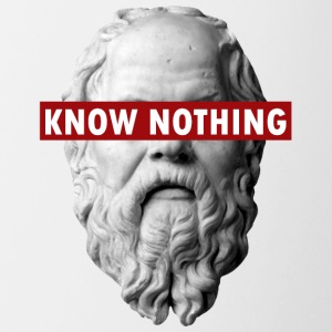 KNOW NOTHING SOCRATES - Contrasting Mug