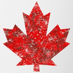 Kanada Maple Leaf Maple Leaf Grunge Amerika - Tvåfärgad mugg