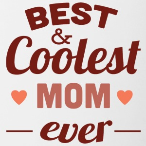 best and coolest mom ever - Contrasting Mug