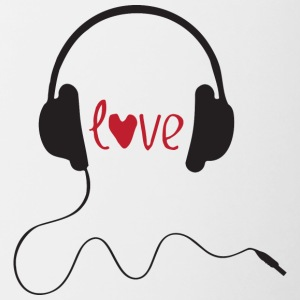 LOVE MUSIC - Mok tweekleurig