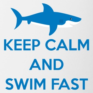 Svømning / float: Keep Calm And Swim Fast - Tofarvet krus