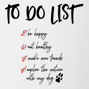 To do list for dog lovers - Contrasting Mug