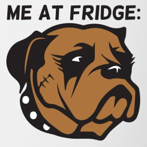 Hund / Boxer: Me At Fridge - Tofarvet krus