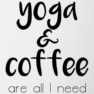 Yoga and coffee - Tasse zweifarbig