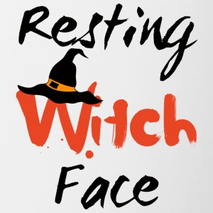 Halloween: Witch Resting Face - Tofarvet krus