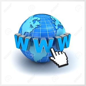 14821565-Internet world-wide-web-concept-Earth-glo - Mok tweekleurig