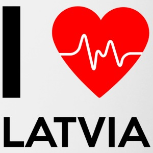 I Love Latvia - I Love Latvia - Contrasting Mug