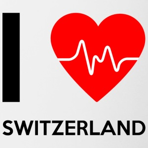I Love Switzerland - I Love Switzerland - Contrasting Mug