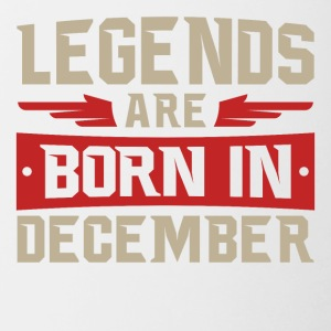 LEGENDS ARE BORN IN DECEMBER - Contrasting Mug
