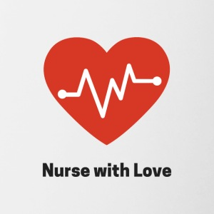 nurse with love - Contrasting Mug