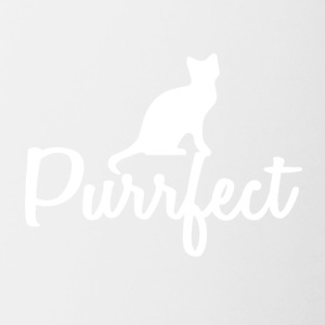 Cats are perfect - gift idea - Contrasting Mug
