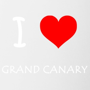 I Love Grand Canary - Tasse zweifarbig