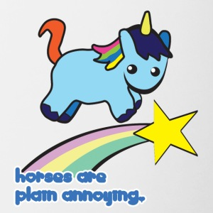 Unicorn: Unicorn Horses are plain annoying - Contrasting Mug