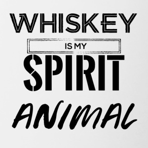 Whiskey is my Spirit Animal - Tasse zweifarbig