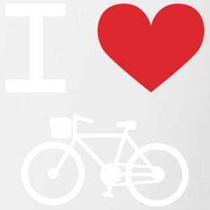I love Bike - Tasse bicolore