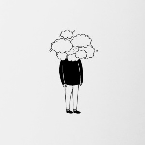 head in the clouds - Contrasting Mug