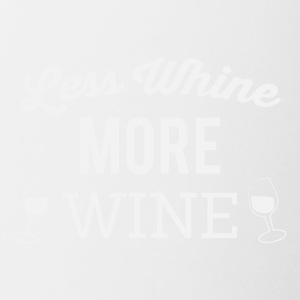 Less whine more wine - Contrasting Mug