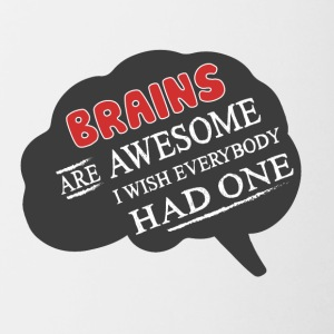 Brains are cool! - Contrasting Mug