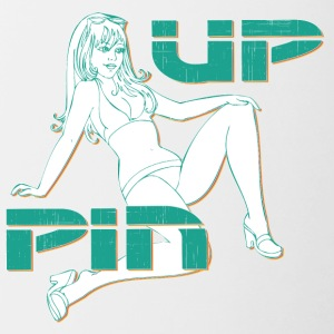 PIN UP Hot girl 2 - Kubek dwukolorowy