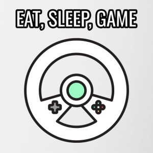 Game / gamer / game: Eat, Sleep, Game - Mok tweekleurig