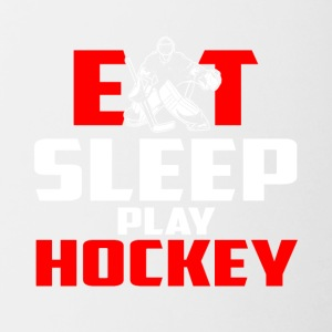 Eat, sleep, play hockey - Contrasting Mug