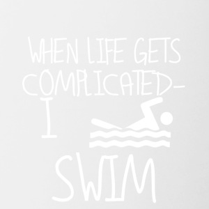 Swimming is free! - Contrasting Mug
