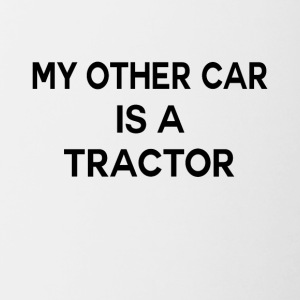 Second car tractor funny sayings - Contrasting Mug