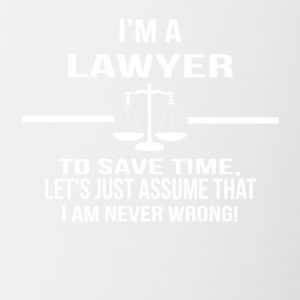 in a lawyer - Contrasting Mug