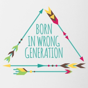 Hippie / Hippies: Born in wrong generation - Contrasting Mug