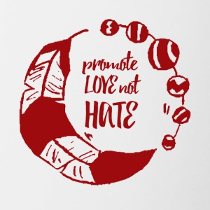 Hippie / Hippies: Promote Love not Hate - Tasse zweifarbig