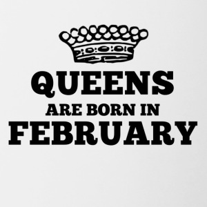 Queens are born in february - Contrasting Mug