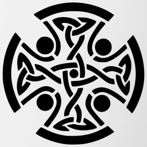 Celtic Cross - Tofarvet krus
