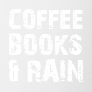Coffee, books and rainy weather - Contrasting Mug