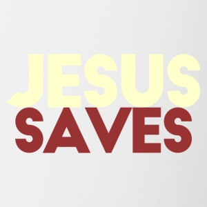 Jesus Saves - Tofarvet krus
