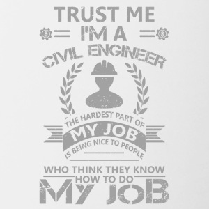 Civil engineer funny sayings - Contrasting Mug