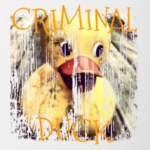 Duck Duck crimineel Criminal - Mok tweekleurig