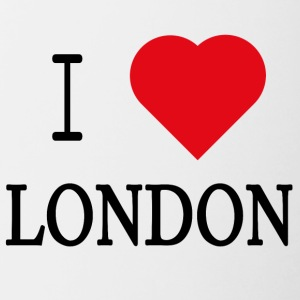 I Love London - Kubek dwukolorowy