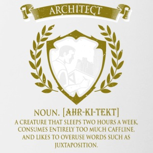 architect - Mok tweekleurig