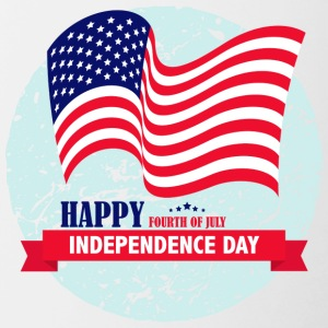 Independence Day USA 4.Juli - Tasse zweifarbig