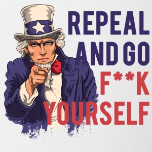 Repeal and go f yourself - Contrasting Mug