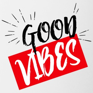 good vibes - Mok tweekleurig